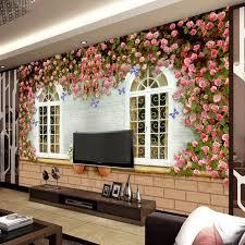 wallpapers interior design vintage rose window wallpaper personalized photo wallpaper custom 3d