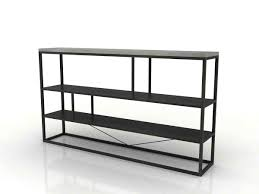 exciting black metal bookcase horizontal type 2 tier shelf gray