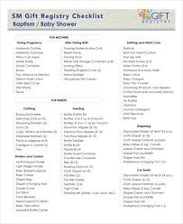 baby gift registry list baby registry checklist 8 free word pdf psd documents