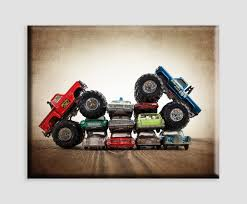 bigfoot monster truck museum amazon com vintage monster truck art on canvas