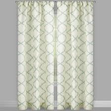 frette trellis rod pocket window curtains set of 2 christmas