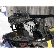 quadrax spare tire carrier for can am commander maverick 2014