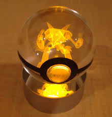ball with light inside these crystal poke balls have glowing pokémon inside technabob