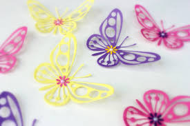 Butterfly Wall Decals For Kids Rooms by Mydreamdecors U2022 Purple Yellow Pink Butterflies 3d Wall Art