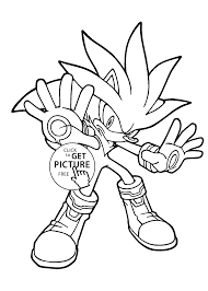 Cool Sonic Coloring Pages For Kids Printable Free Coloing 4kids Com Free Sonic Coloring Pages