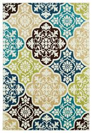 Teal Outdoor Rug Summer Tile Aqua Indoor Outdoor Rug