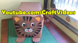 how to wrap a gift in cat or tiger shape gift wrapping ideas for
