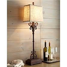 monterrey buffet table lamp tuscan spanish distressed rust brown