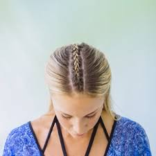 how to braid hair with middle part middle part braid top view