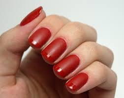 nail polish society red matte and glossy