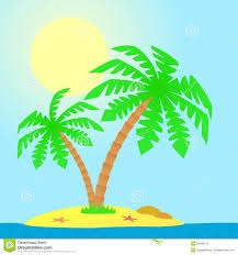 island with palm trees stock vector illustration of leaf 35448175