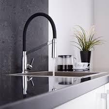 cuisine monobloc modern monobloc kitchen sink mixer tap chrome black