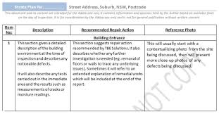 building defect report template building inspection report template free professional and high