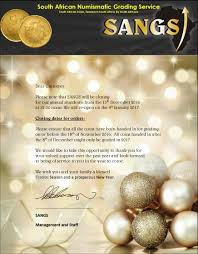 closing date s a n g s south numismatic grading service