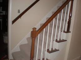 banister refinish and hallway paint interior painter and