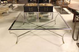 Chrome And Glass Coffee Table Extra Large Glass Coffee Table Rascalartsnyc