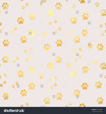 vector gold paw print seamless pattern stock vector 542985865