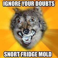 Meme Courage Wolf - effed up courage wolf