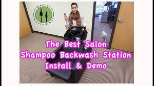 hair trap for salon sink salon shoo backwash station install demo devlonnorthwest com