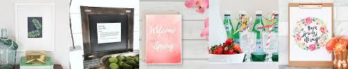 spring printables and spring home decor ideas