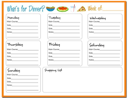 9 best images of diet chart template weekly food chart template