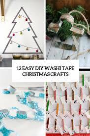 12 easy diy washi tape christmas crafts shelterness