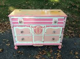 Shabby Chic Dressers by Shabby Chic Pink And White Dresser With Glass Knobs Attainable