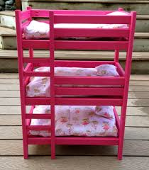 18 Inch Doll Bunk Bed Handmade Stained Wooden 18 Inch Doll Bunk Bed Bloomin