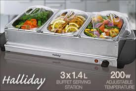scoopon three tray electric buffet food warmer delivered