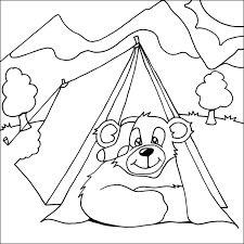 camping bear coloring pages google bear birthday party