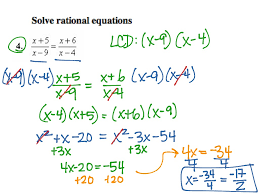 solving rational equations math precalculus rational expressions showme