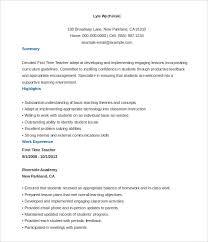 free resume sample templates 51 teacher resume templates free