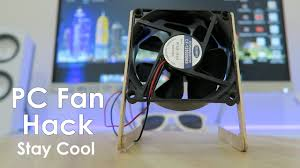 fan with usb connection how to make a usb fan simple pc fan life hack youtube