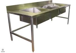 Stainless Kitchen Table by Kitchen Sinks Stainless Steel Industrial Kitchen Table With 3