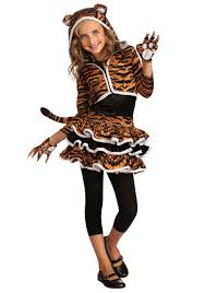 Cute Halloween Costumes Tween Girls Child Tigress Hoodie Girls Halloween Costumes
