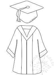 cap and gown for preschool preschool graduation cap and gown coloring page