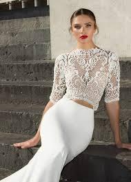 zweiteiliges brautkleid 27 herbst 2017 brautkleider bekannten designern mode kreativ