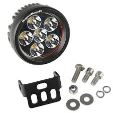 round led driving lights rugged ridge 3 5 in round led driving light bar 15209 01 the home