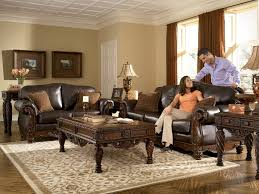 Ebay Living Room Sets by North Shore All Leather Brown Traditional Sofa Set Old World