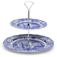 2 tier cake stand spode blue italian tiered cake stand s of kensington