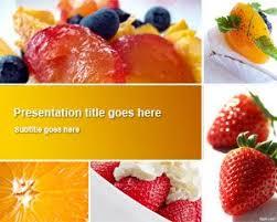 free dessert powerpoint template