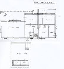 piano floor plan vila s pogledom na morje borea immobiliare