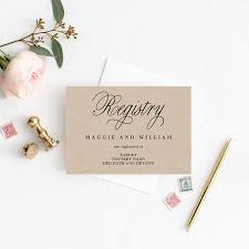 popular wedding registries registry cards editable template printable pdf script