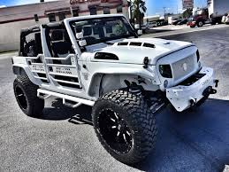 jeep rubicon all white 2017 jeep wrangler unlimited white out custom lifted leather