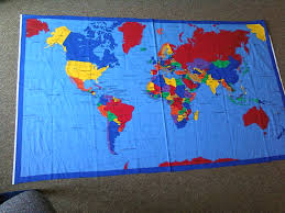Map Fabric Cloth World Map Wall Hanging Timekeeperwatches
