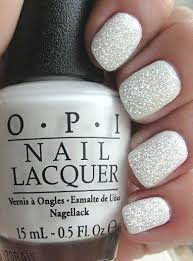 opi white fairy special nail art manicure silver nail manicure