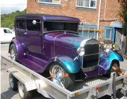 my dads ford 1929 modela rod purple metallic paint with blue