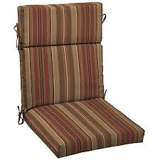 Dining Chair Back Cushions Shop Allen Roth Stripe Cushion For High Back Chair At Lowes Com