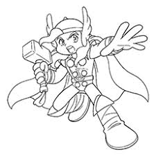 10 Best Thor Coloring Pages For Toddlers Thor Coloring Page
