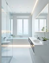 modern white bathroom interior design ideas white on white